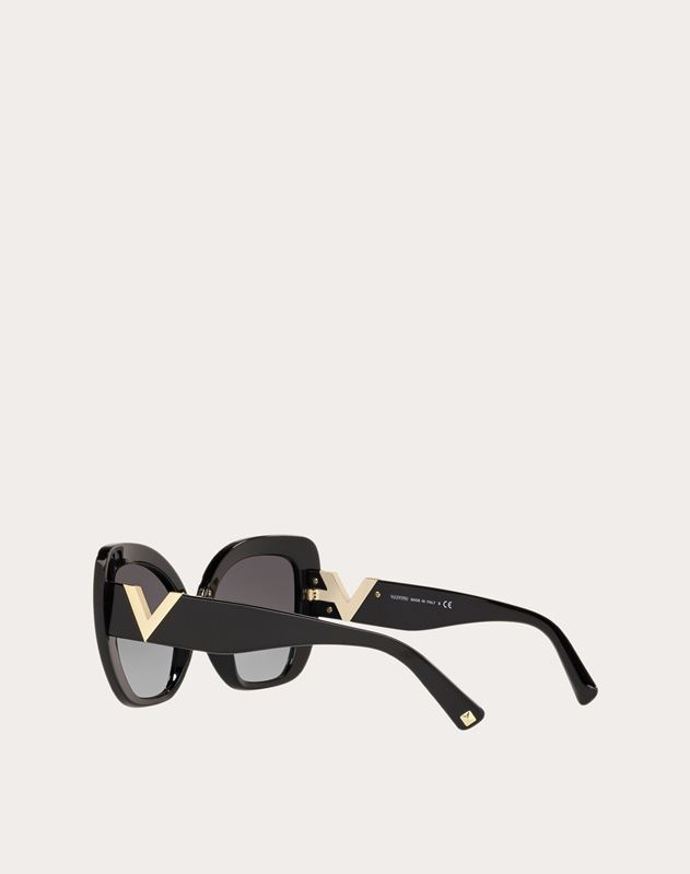 OVERSIZED CAT-EYE ACETATE SUNGLASSES