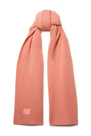 ACNE STUDIOS Bansy appliquéd ribbed wool scarf
