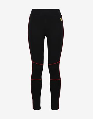 Scuderia Ferrari Online Store - Women's leggings in Milan rib with contrasting piping - Joggers