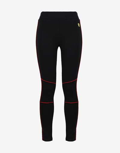 Scuderia Ferrari Online Store - Women's Milano Rib Leggings with contrasting color piping -
