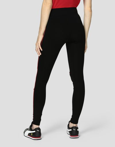 Women's leggings in Milan rib with contrasting piping