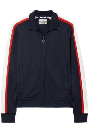 TORY SPORT Striped stretch-knit track jacket