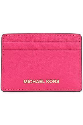 MICHAEL MICHAEL KORS Logo-embellished textured-leather cardholder