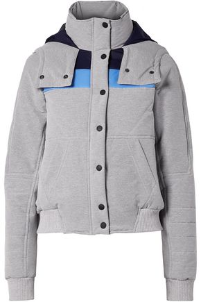 LNDR Winter Breaker hooded color-block quilted shell jacket