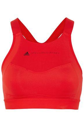 ADIDAS by STELLA McCARTNEY Essential Climalite mesh-trimmed stretch sports bra