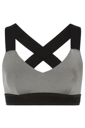 NO KA 'OI Mahina Ola metallic stretch sports bra