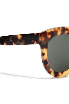 BALENCIAGA Cat-eye tortoiseshell acetate sunglasses