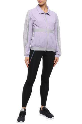 Adidas By Stella Mccartney Mesh-paneled Shell Track Jacket In Lilac