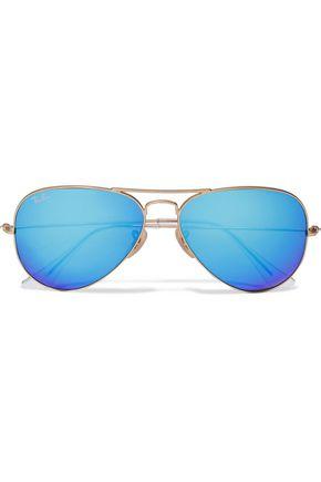 RAY-BAN Aviator-style gold-tone sunglasses