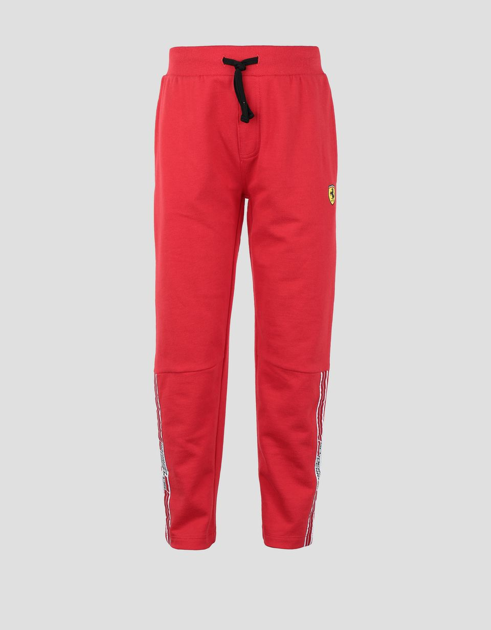 Scuderia Ferrari Online Store - Kids' joggers with Icon Tape - Joggers