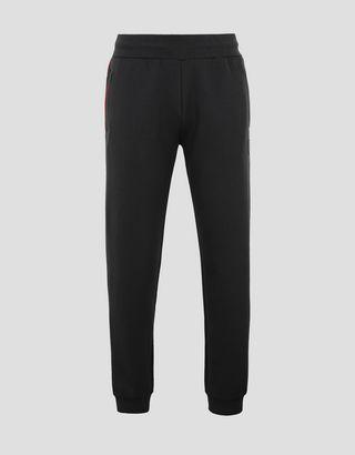 Scuderia Ferrari Online Store - Men's jogging trousers in double knit Interlock - Joggers