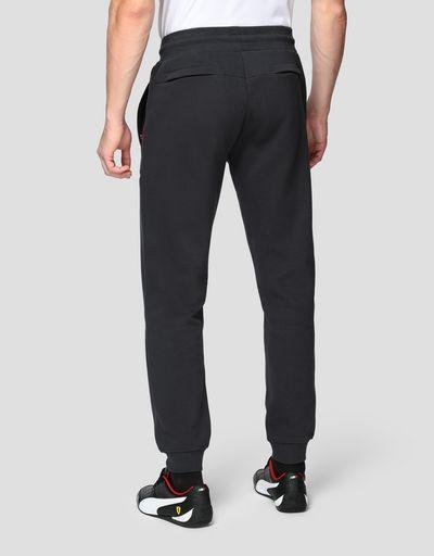 Pantaloni joggers uomo in Interlock double knit