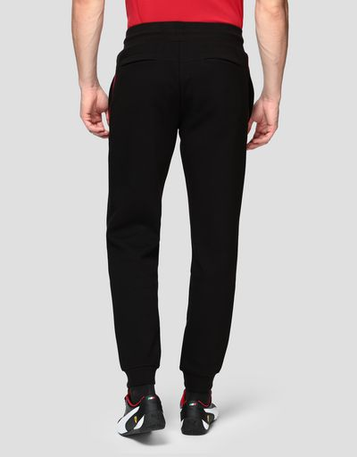 Pantaloni joggers uomo in Interlock double knit