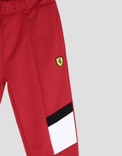Scuderia Ferrari Online Store - Pantalon de jogging pour garçon avec insertions contrastées - Pantalons de survêtement