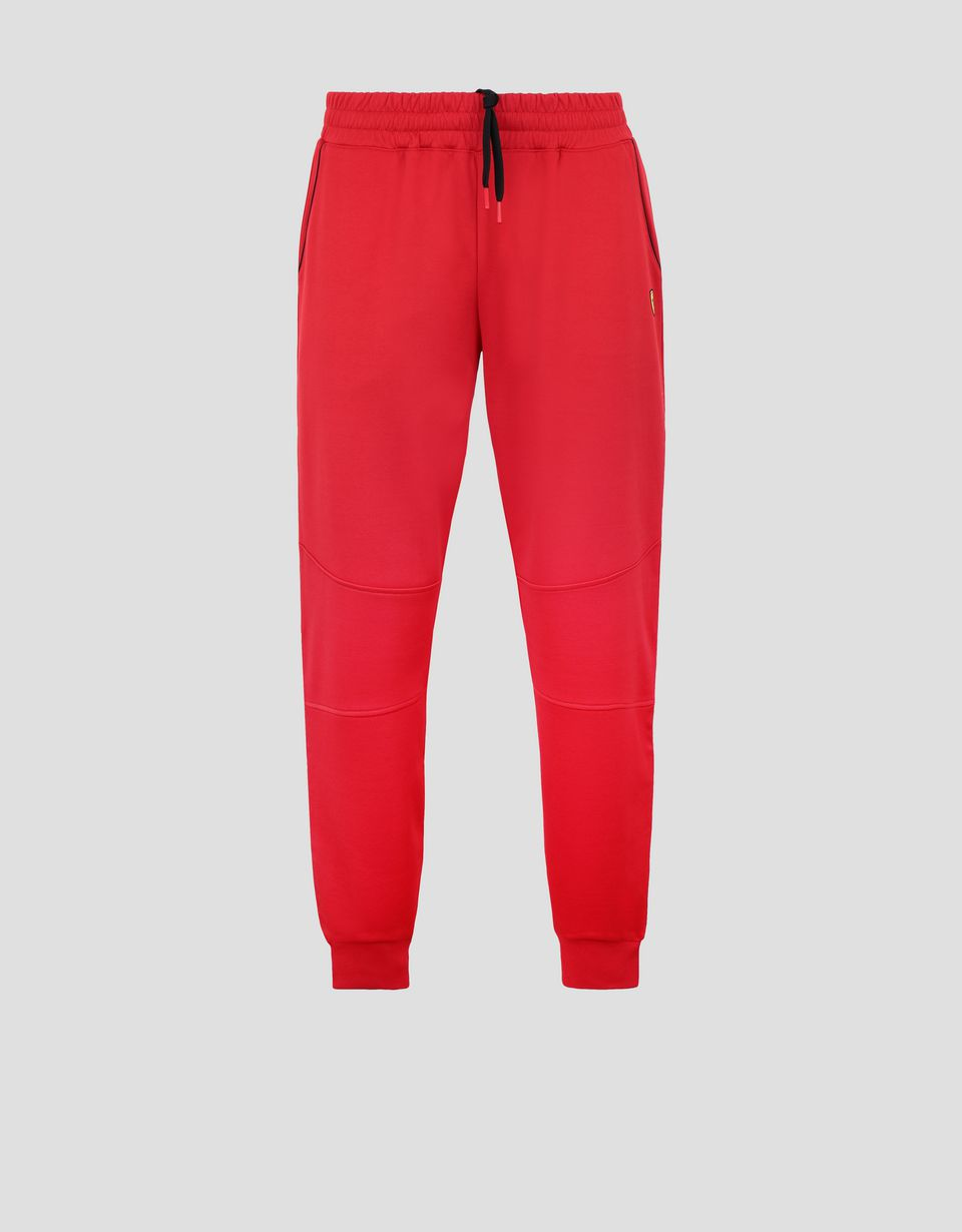 Scuderia Ferrari Online Store - Men's jogging trousers in triacetate - Joggers