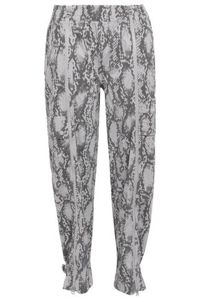 ADIDAS by STELLA McCARTNEY Zip-detailed tech-jersey track pants