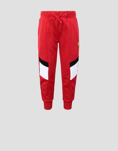 Kids' jogging trousers with contrasting inserts