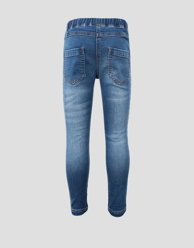 Jeggings bambina in cotone stretch con Scudetto Ferrari