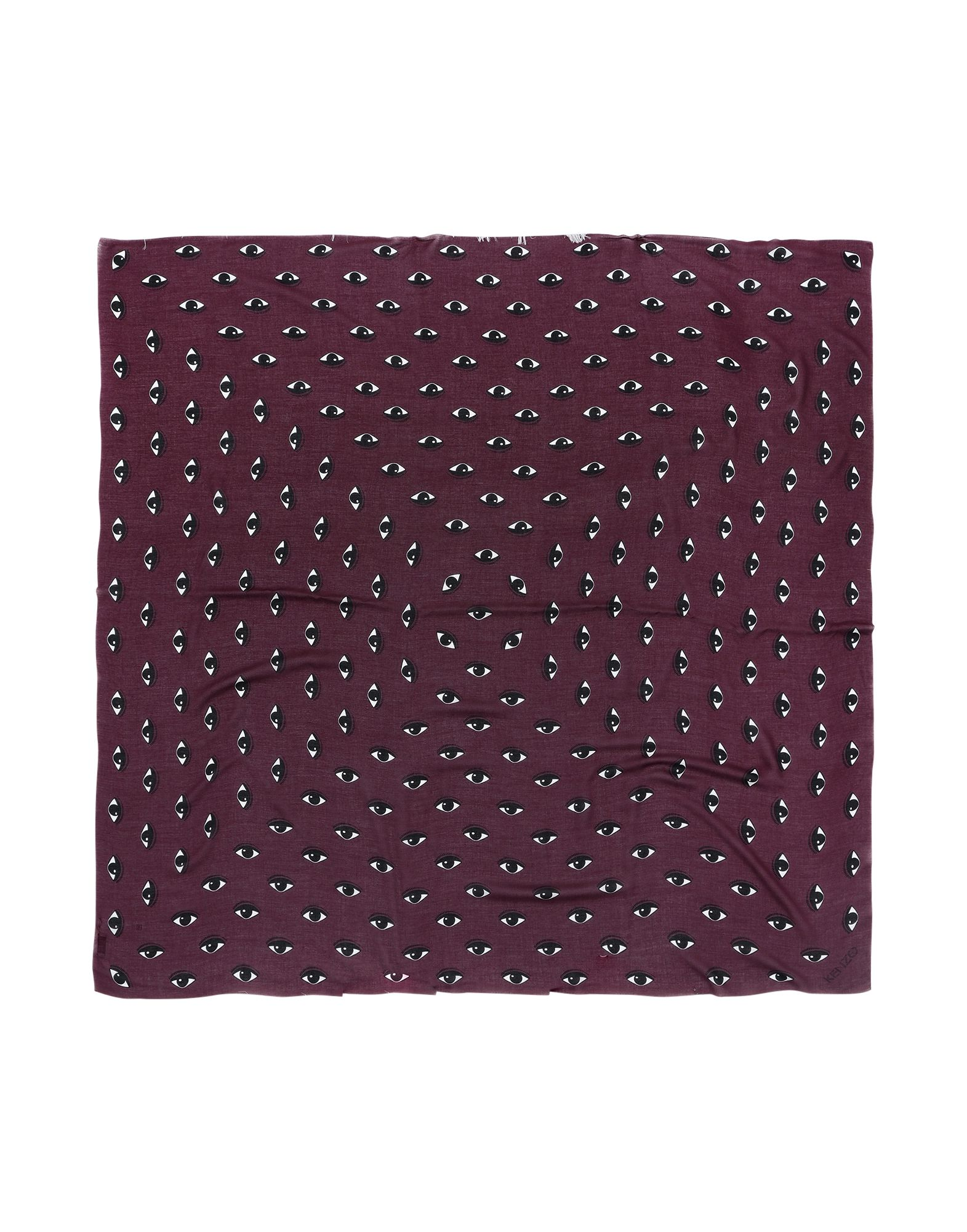 Kenzo Square Scarf In Maroon