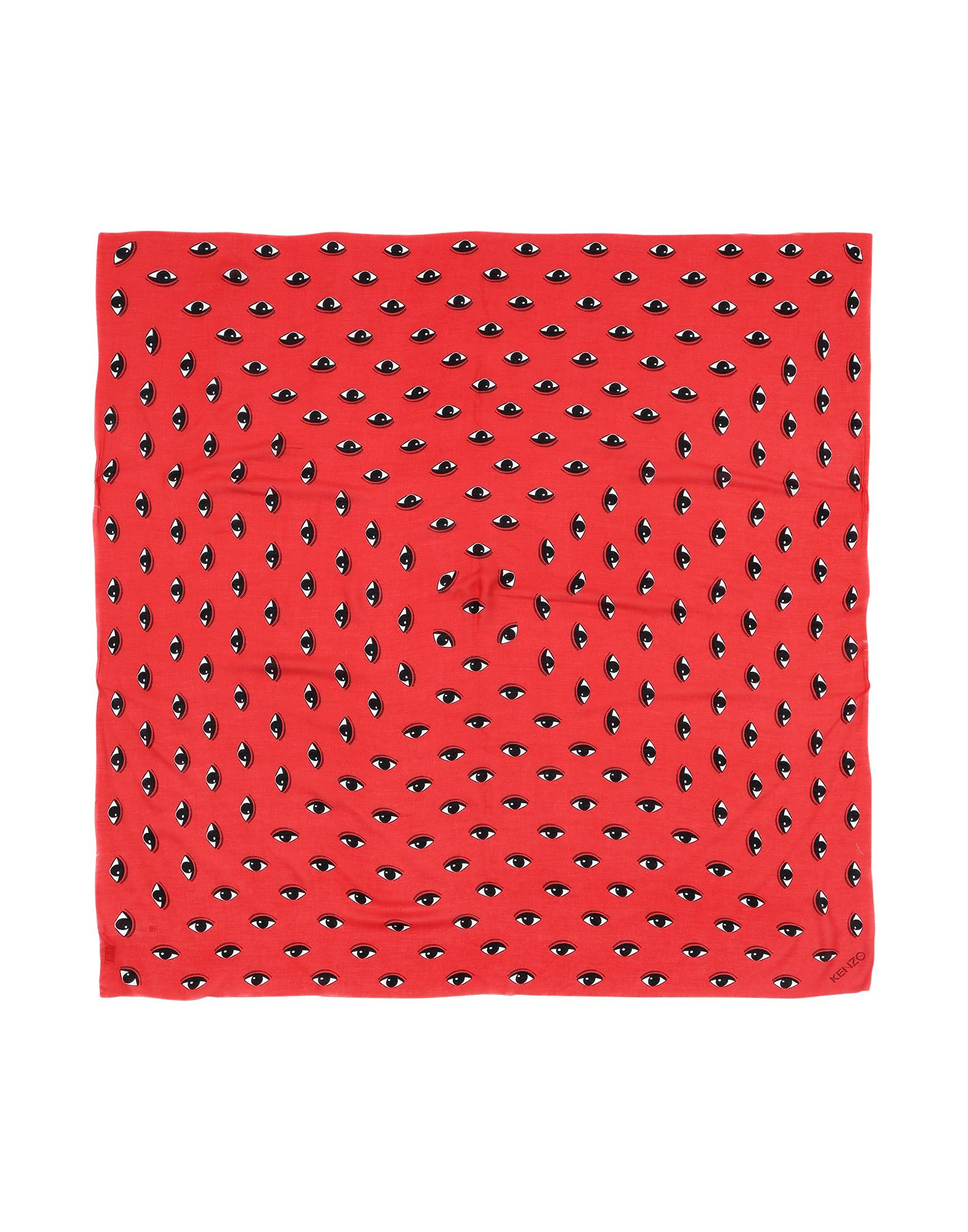 Kenzo Square Scarf In Red