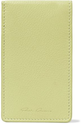 RICK OWENS Textured-leather cardholder