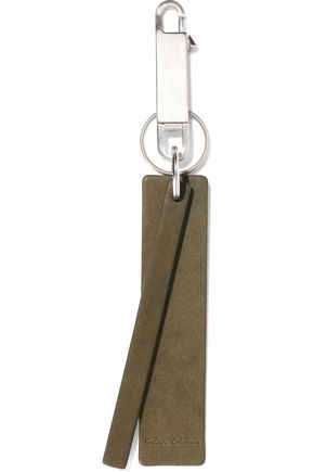 RICK OWENS Textured-leather keychain