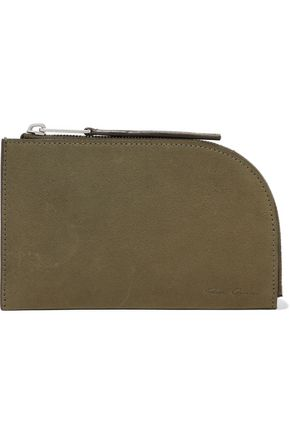 RICK OWENS Textured-leather pouch