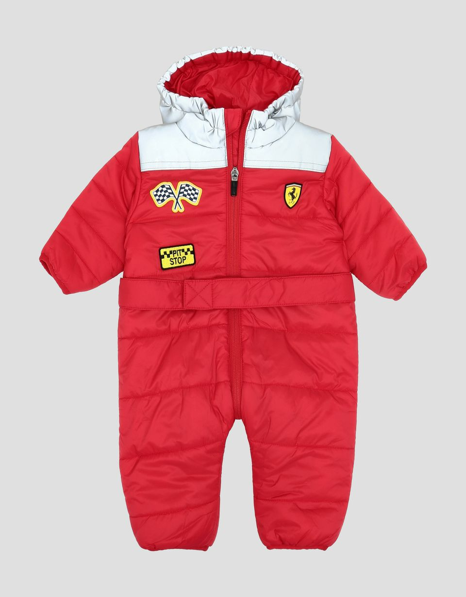 Scuderia Ferrari Online Store - Infants' padded suit with reflective hood - Jumpsuits