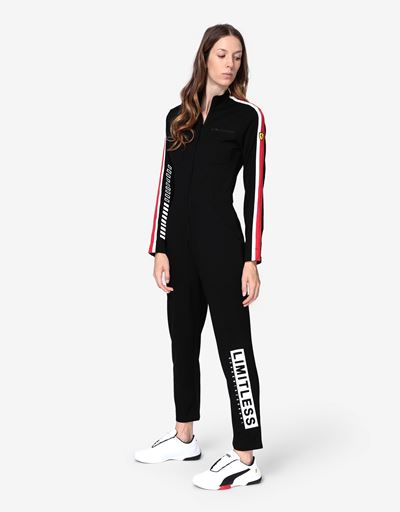 Women's Milano rib jumpsuit with LIMITLESS print