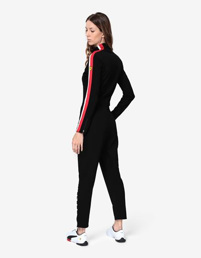 Women's jumpsuit in Milano rib with LIMITLESS print