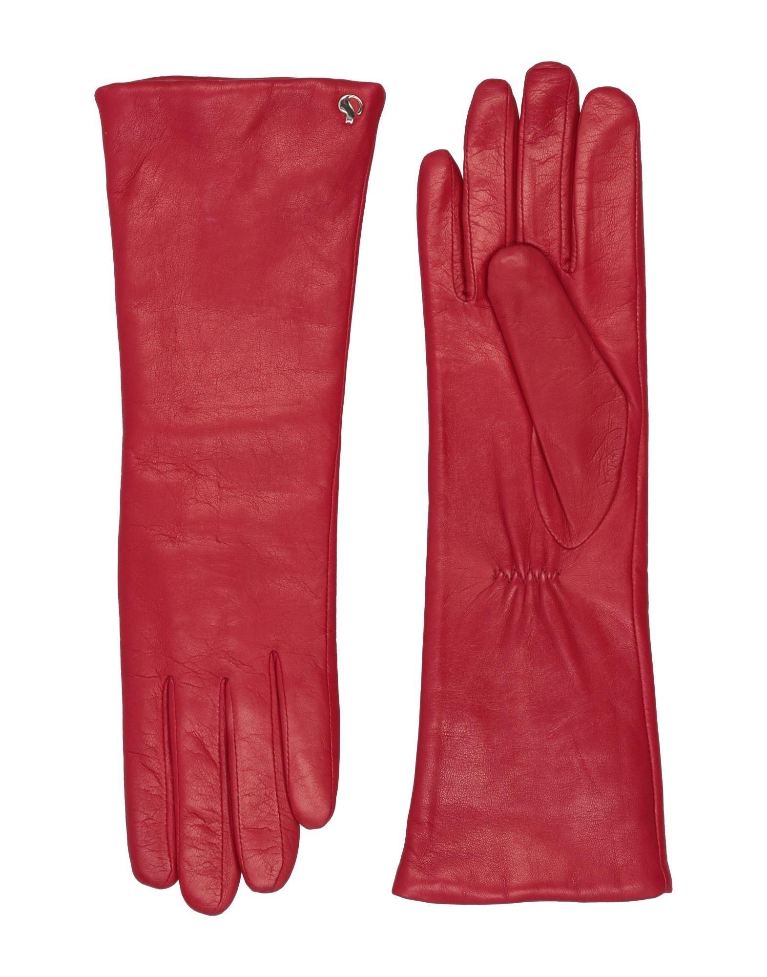 《セール開催中》DAL DOSSO? レディース 手袋 レッド 6.5 革 100%