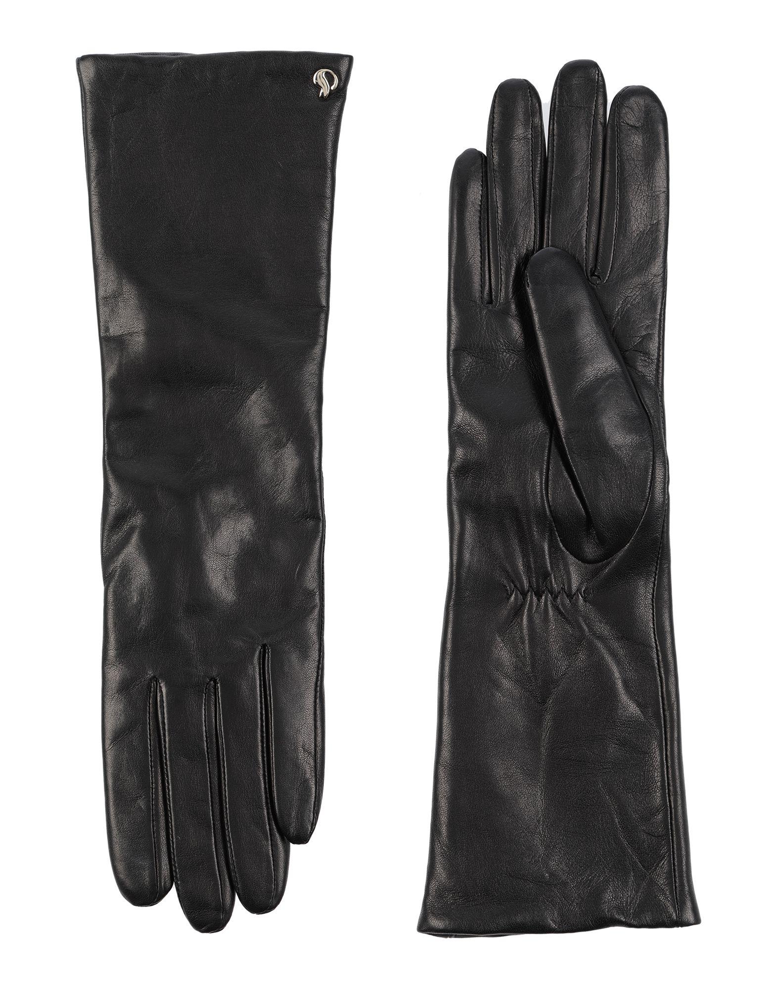 《セール開催中》DAL DOSSO? レディース 手袋 ブラック 7 革 100%