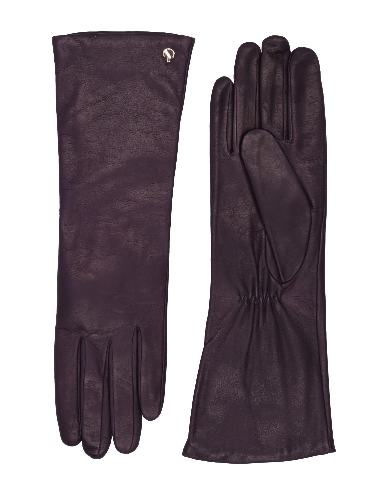 《セール開催中》DAL DOSSO? レディース 手袋 ダークパープル 6.5 革 100%