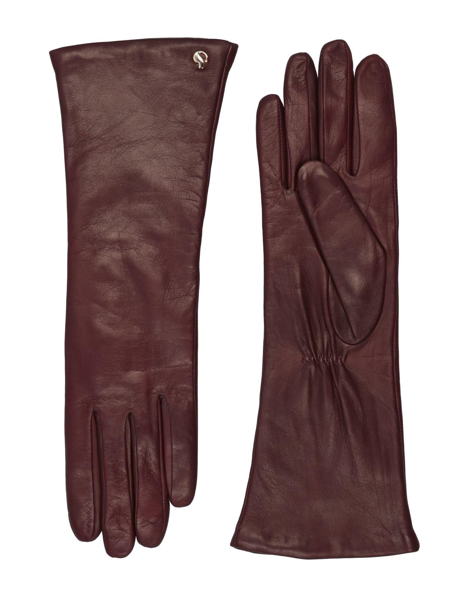 《セール開催中》DAL DOSSO? レディース 手袋 ディープパープル 6.5 革 100%