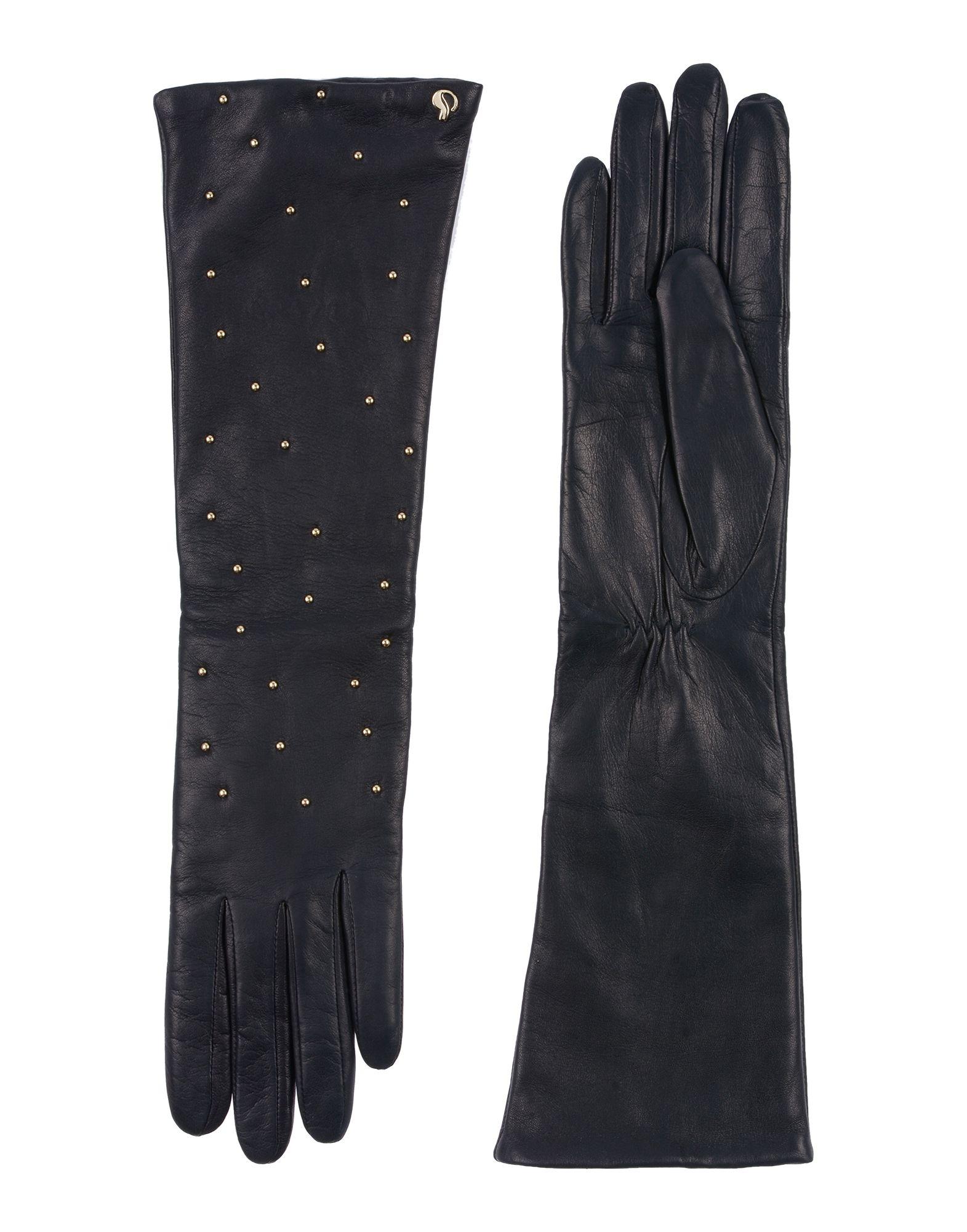 《セール開催中》DAL DOSSO? レディース 手袋 ダークブルー 6.5 革
