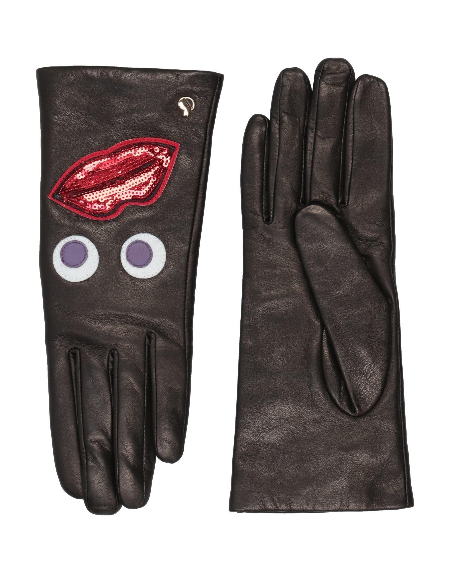 《セール開催中》DAL DOSSO? レディース 手袋 ブラック 6.5 革 100%
