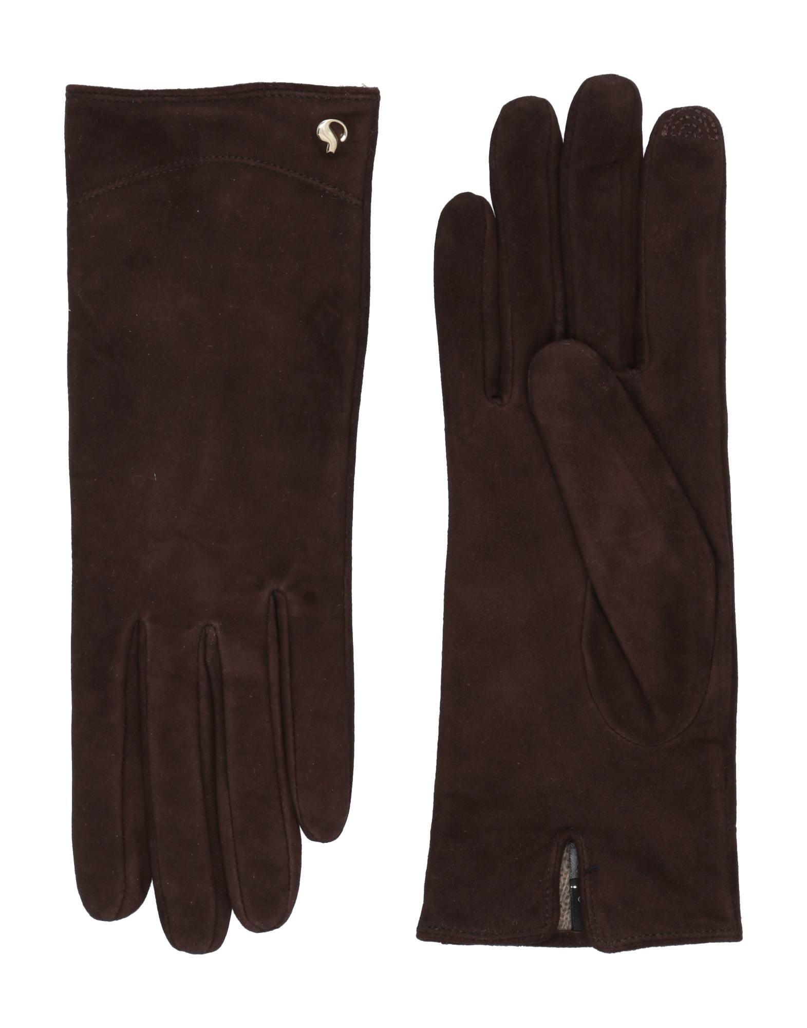 《セール開催中》DAL DOSSO? レディース 手袋 ダークブラウン 6.5 革 100%