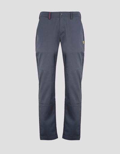 Scuderia Ferrari Online Store - Men's stretch gabardine chinos - 5-pocket-pants