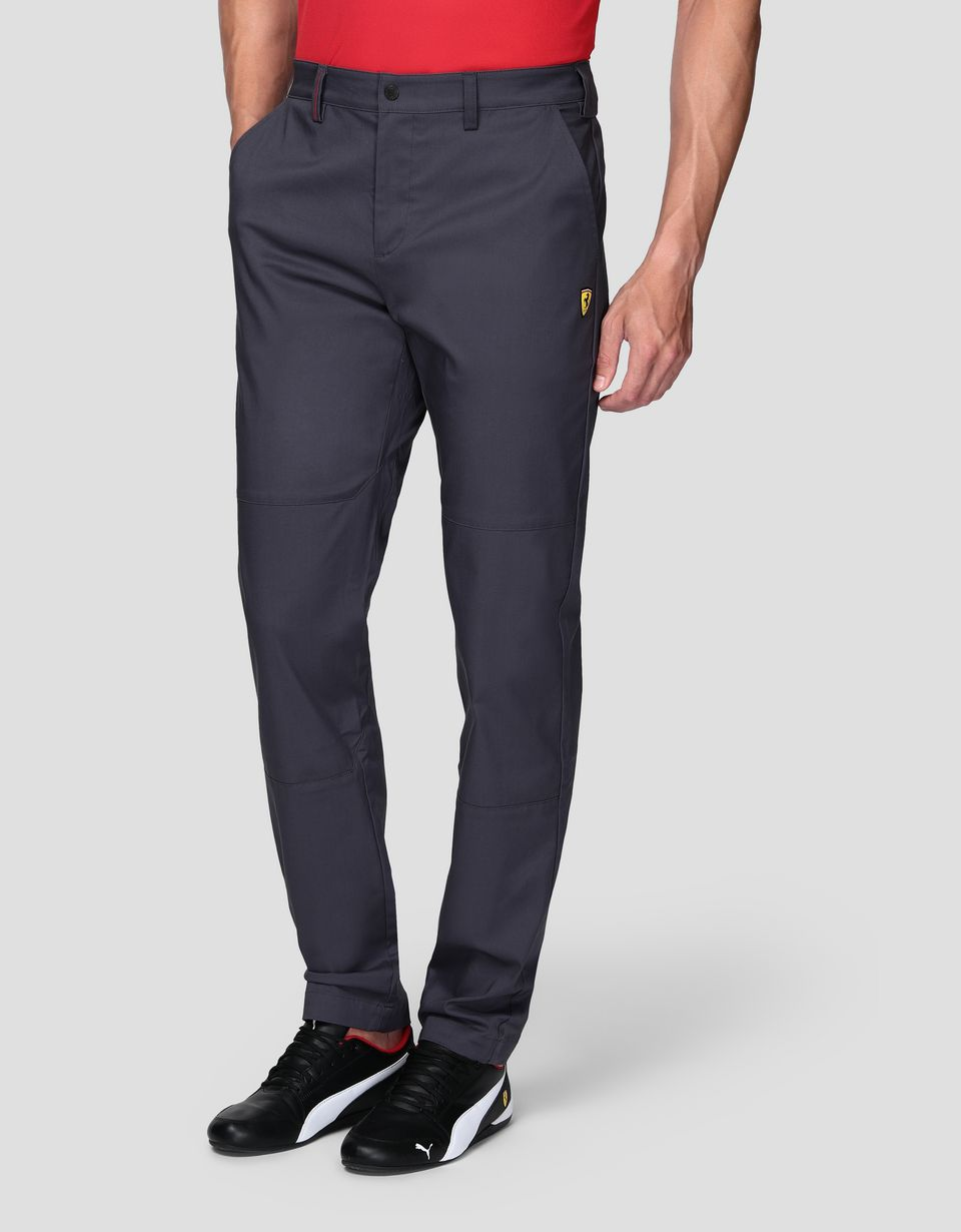 Scuderia Ferrari Online Store - Men's chino trousers in stretch gabardine - 5-pocket trousers