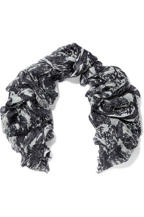 IRO Frayed modal and silk-blend scarf