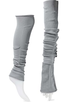 RICK OWENS Stretch-cotton arm and leg warmers