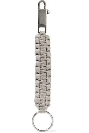 RICK OWENS Braided cotton keychain