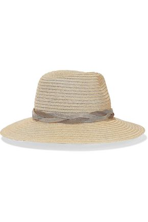 EUGENIA KIM Courtney chain-trimmed hemp-blend fedora