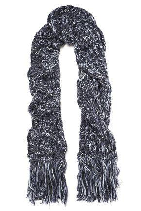 BRUNELLO CUCINELLI フリンジ&装飾付き 混紡ニット スカーフ