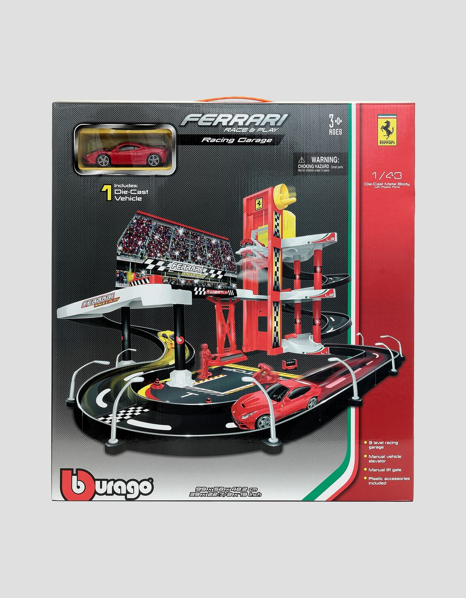 Scuderia Ferrari Online Store - Ferrari Race & Play 1:43 Garage - Toy Cars