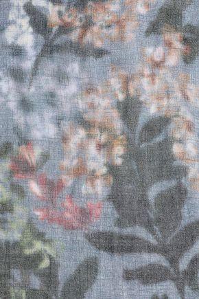 BRUNELLO CUCINELLI ほつれ加工 カシミヤ スカーフ