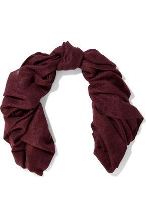 BRUNELLO CUCINELLI Frayed metallic woven scarf