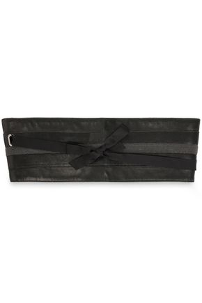 BRUNELLO CUCINELLI Bead-embellished leather belt