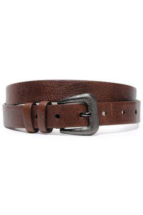 BRUNELLO CUCINELLI Textured-leather belt