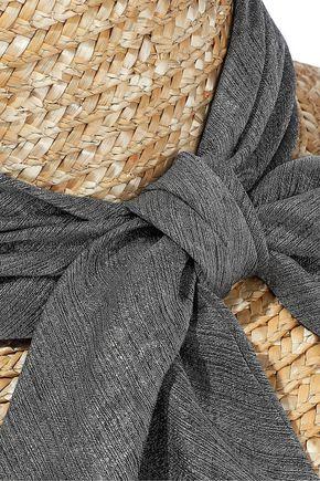 EUGENIA KIM Annabelle gauze-trimmed straw sunhat